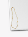 Gold Filled Paperclip Link Necklace