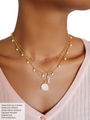Pearl Gold Beaded necklace and pendants