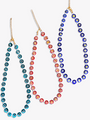Minnie Glass Beaded Colorful Necklaces, 3 Colors