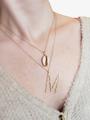 Marjorie Large Hammered Letter Necklace Pendant