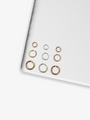 Gretta 3mm 4mm 5mm Open Jump Rings, 30 Pieces