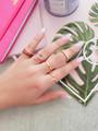 Kiana Bezeled Stacker Rings, 5 Colors