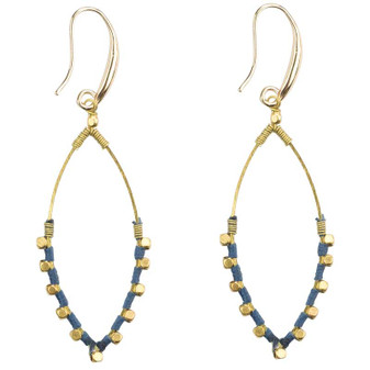 Stylish Handmade Fair Trade Drop Earrings