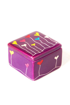 Colorful handmade keepsake box