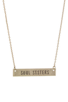 """Soul Sisters"" Necklace"