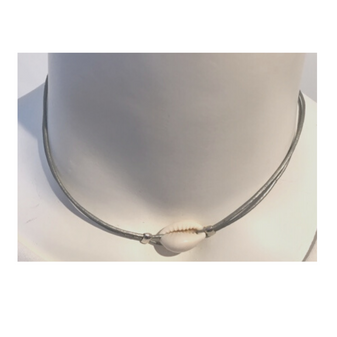 Leather Shell Choker