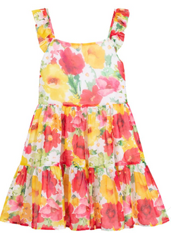 Flower Chiffon Dress