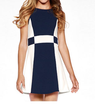 Colorblock Teen Peggy Dress