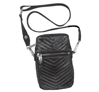Cell Bag - Black Chevron
