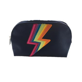 Cosmetic Bag - Navy Rainbow Bolt