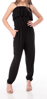 Tiered Jumpsuit (Black)
