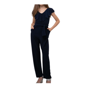 Belted Jumpsuit (Navy)
