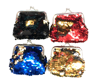 Flip Sequin Change Purse