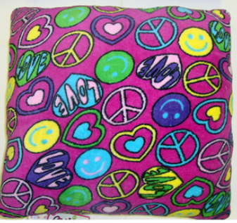 Peace/Love Pillow