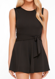 Side Tie Romper - Teen