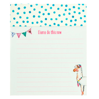 Adorable rectangle notepad for notes and reminders.