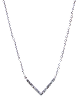 """Simple yet so pretty! Silver tone necklace with etching detail. You can choose between 3 lengths; 15"""", 16"""" or 17""""."""