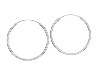 The perfect sterling silver hoops