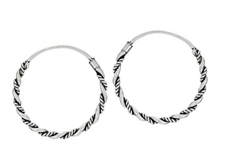 Sterling silver twist wrap hoops