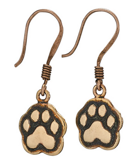 Copper Tiger Paw Earrings