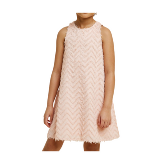 Chevron Textured Tween Dress