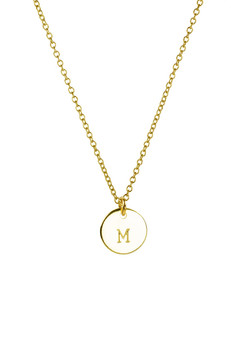"Gold tone initial pendant on 16"" chain. BEST SELLER!"