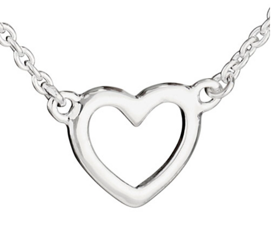 Precious cut-out connected heart necklace
