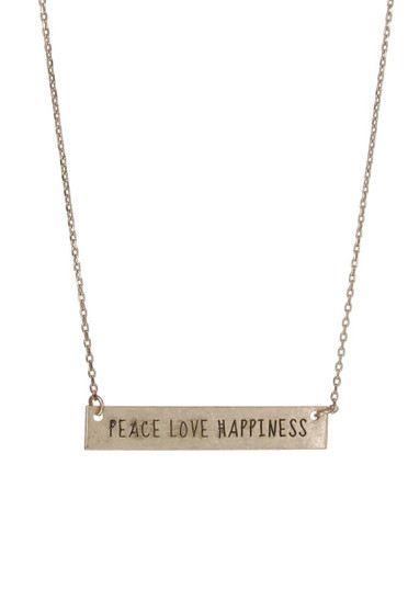 """""""Peace Love Happiness"""" Necklace"""