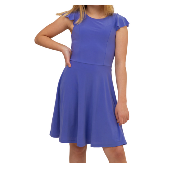 Flutter Sleeve Tween Dress