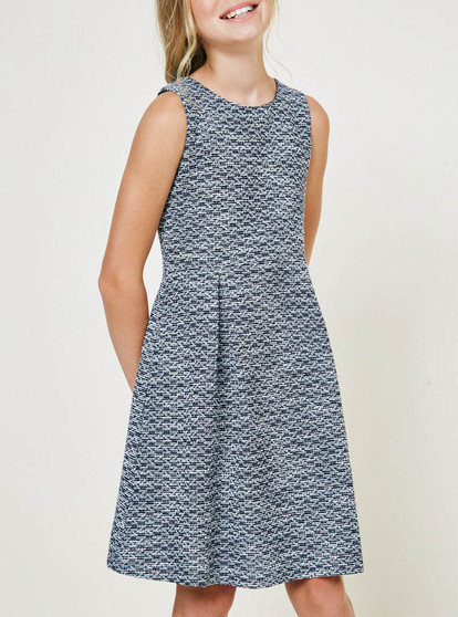 Tweed Baby Doll Dress - Tween