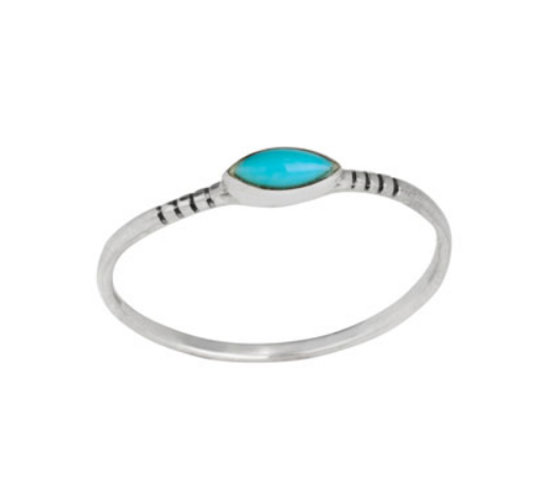 Ring - Turquoise Etched