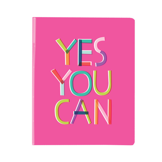 Fun and inspirational notebook perfect for homework, schoolwork or jotting down thoughts and ideas!