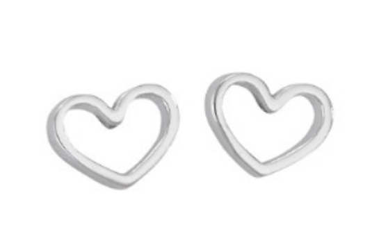 Heart cut-out studs
