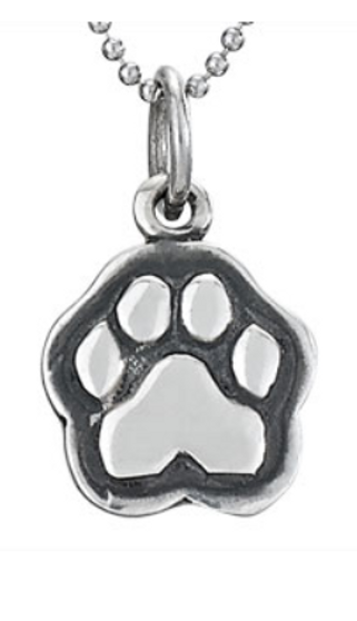 Sterling silver Tiger Paw pendant on chain