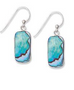 Paua hanging earrings