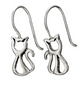 Cat cut-out hanging earrings