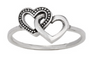 Interlocking hearts ring