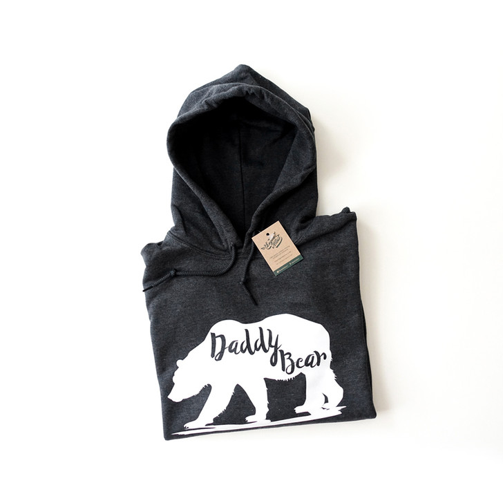 Men's Daddy Bear Hooded Pullover Jumper (+15 Colours) (Small-2XL)