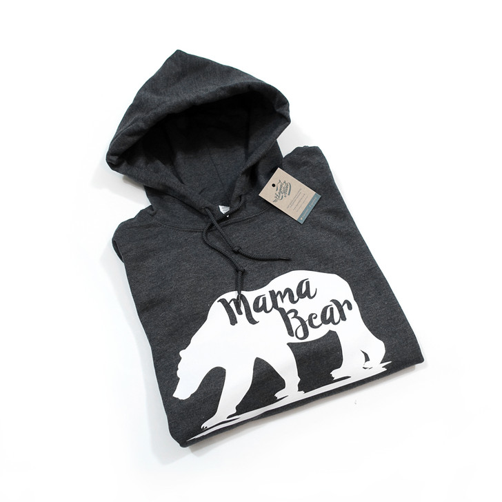 Mama Bear Hooded Pullover Jumper (+15 Colours) (Small-2XL)