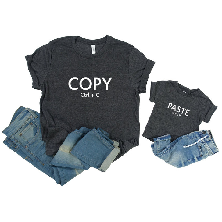 Adult's and Child's Copy & Paste Shirts