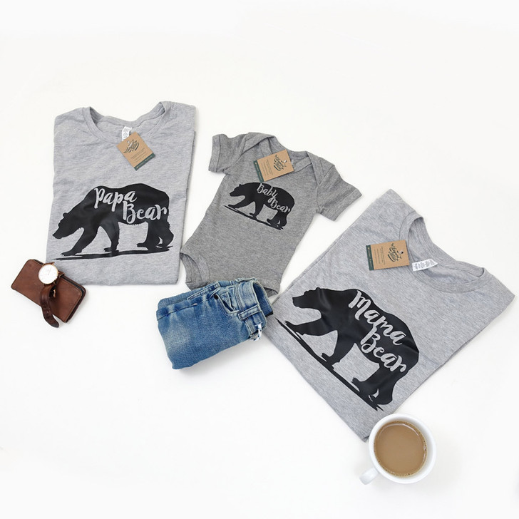 Macthing Bear Family Adult's and Child's Shirts