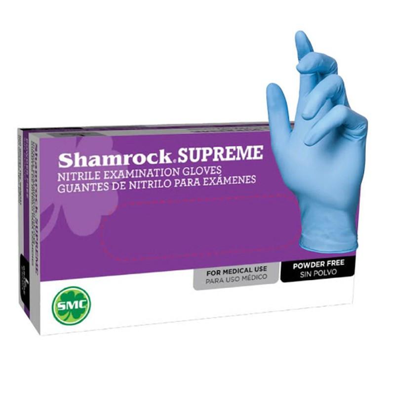 Shamrock Nitrile Examination Gloves, Blue
