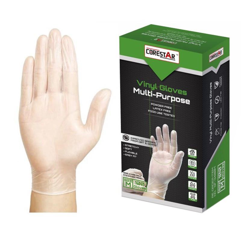 CoreStar Vinyl Gloves, Multi-Purpose
