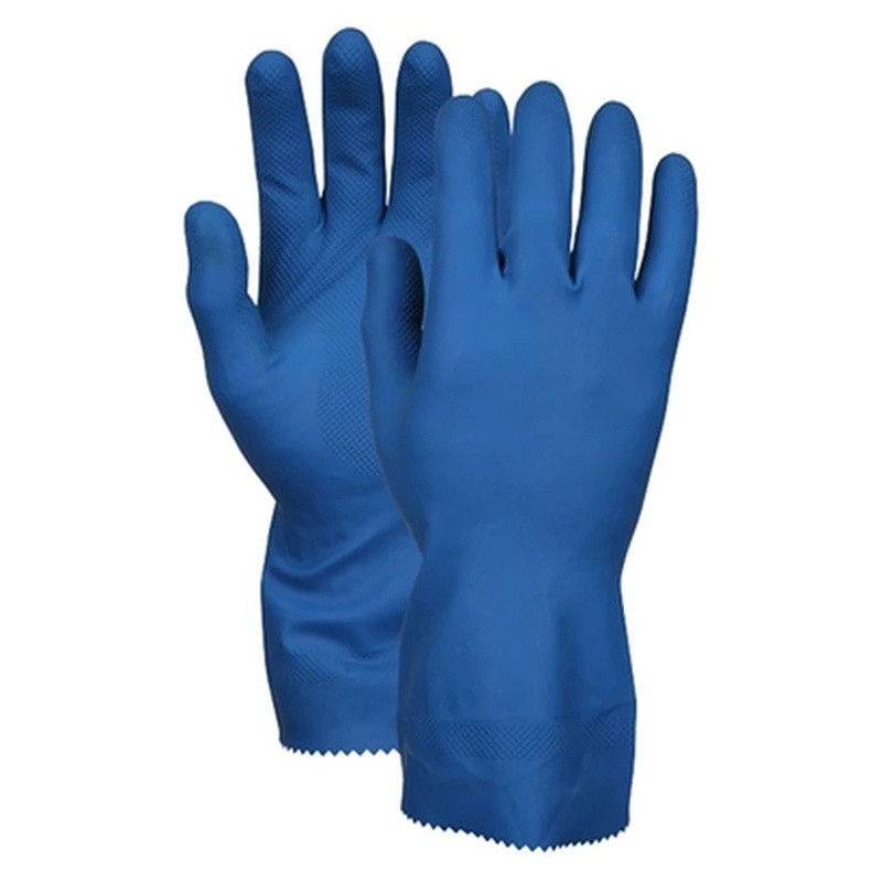 Shamrock Latex Canners Gloves, Textured, Extended Cuff