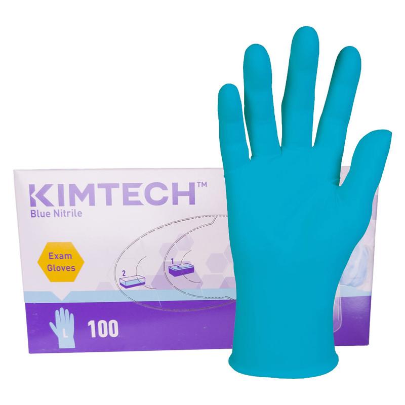 Kimberly-Clark Textured Blue Nitrile Gloves, Ambidextrous - Case