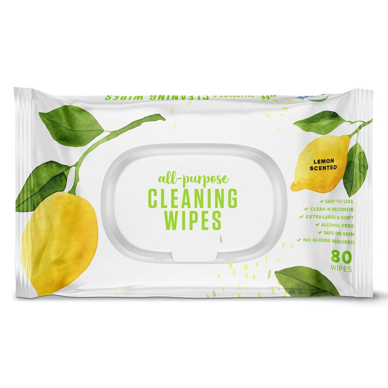 All-Purpose Cleaning Wipes, Lemon Scent