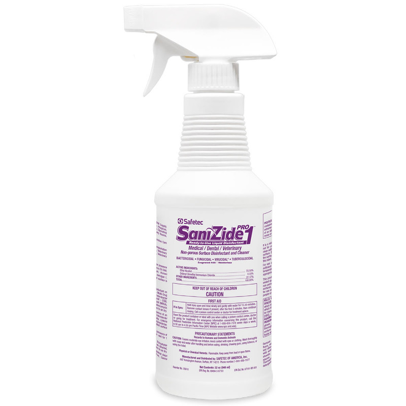Safetec SaniZide Pro Surface Disinfectant, Hospital Grade Formula