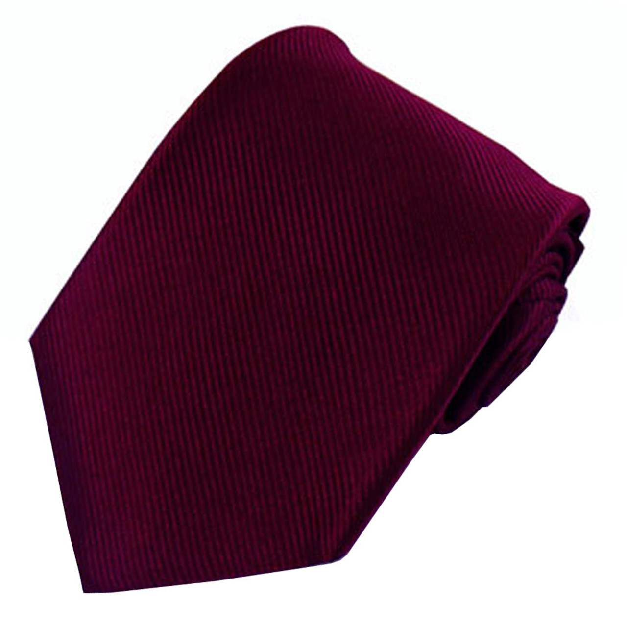 9d6b75cc1e82 Burgundy Solid Color Silk Ribbed Tie - Absolute Ties