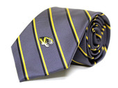 University of Missouri Charcoal Striped Silk Necktie