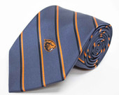 Oregon State Charcoal Striped Silk Necktie